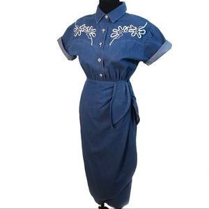 Adorable vintage 80's western pin up dress
